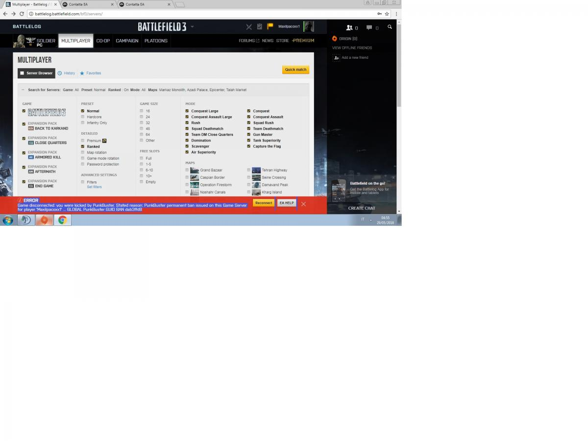 problem with a global ban in bf3 GUID BAN dab3ffd8 - Battlefield 3